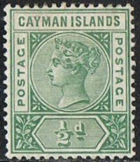 Cayman Islands SG1 1900 Definitive ½d mounted mint